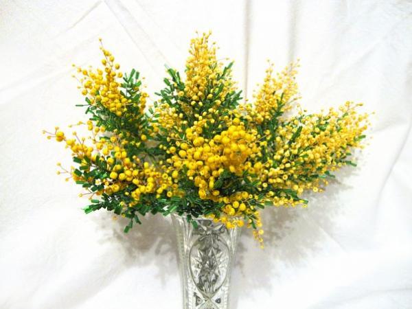 С душистой веточкой мимозы 8 марта к нам придет, Умчатся лютые морозы, Весна тепло нам принесет.